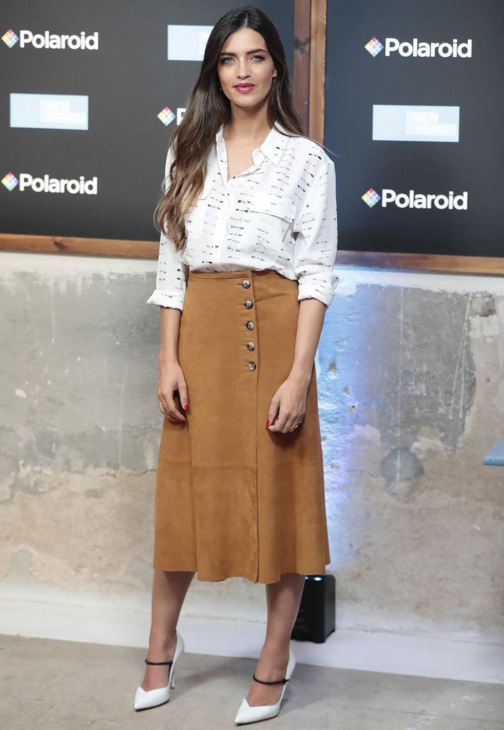 Sara Carbonero en un evento publicitario en Madrid