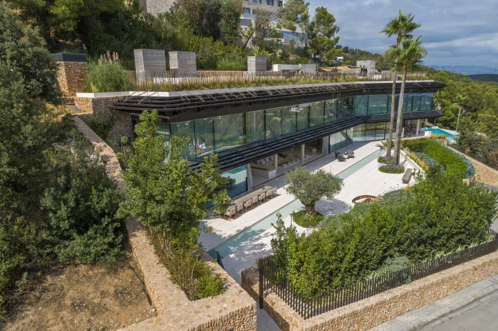 Vista panorámica de la vivienda, obra del arquitecto Matteo Thun.