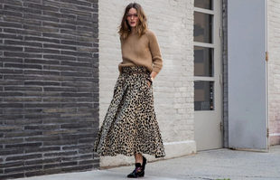 Olivia Palermo paseando durante la Semana de la Moda de Nueva York