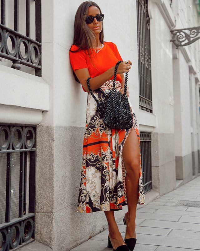 comprar popular hacer un pedido cupón de descuento La falda pañuelo o cómo llevar el estampado viral | Telva.com