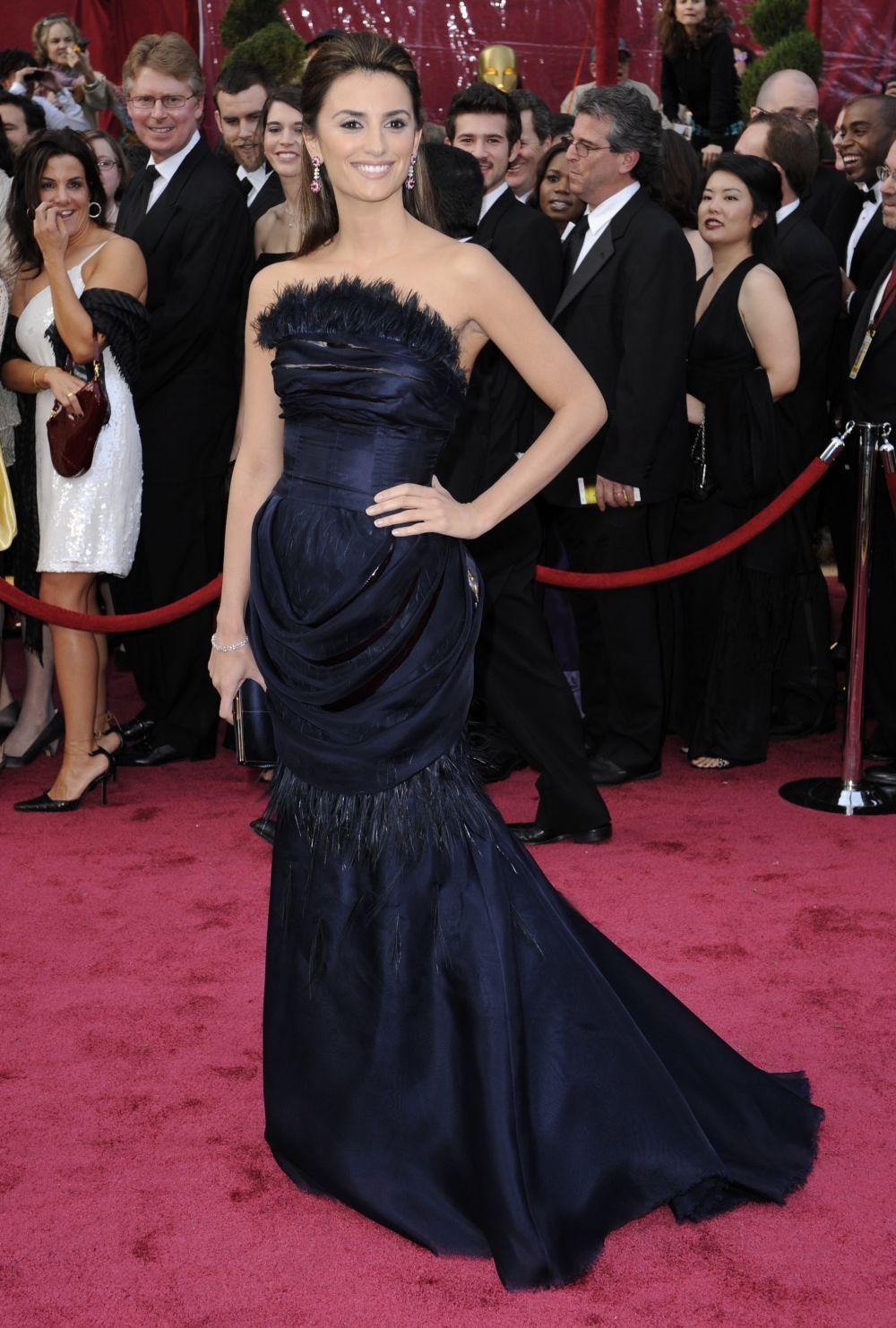 Penélope Cruz en los Oscar de 2008.