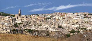 Vista de la ciudad de Matera.