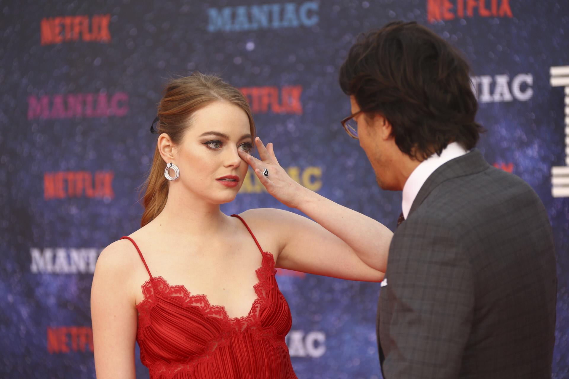 Emma Stone en el estreno de Maniac.