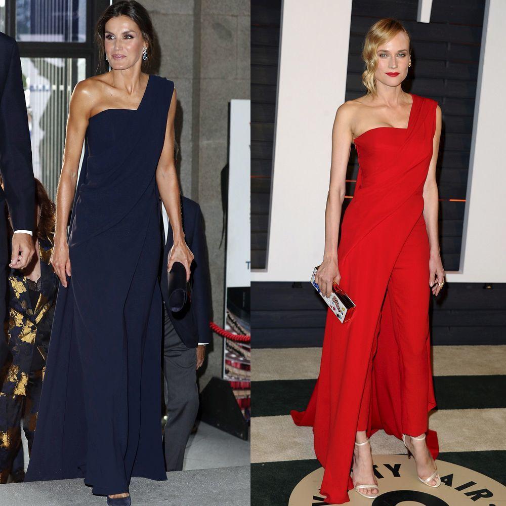 La Reina Letizia y la actriz Diane Krueger con estilismos casi...