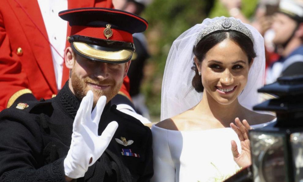 Los Duques de Sussex el día de su boda.