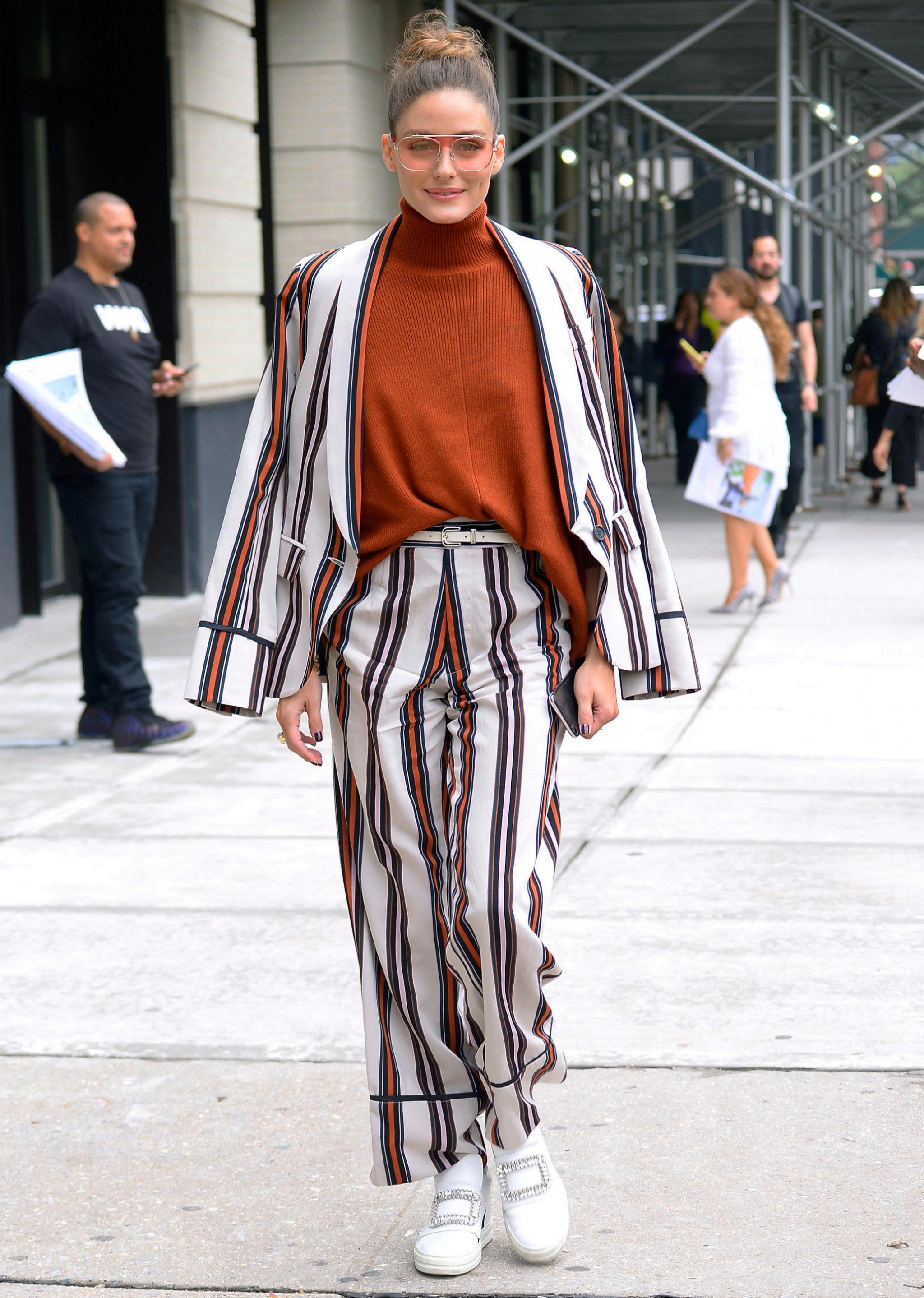 Olivia Palermo durante la Semana de la Moda de Nueva York