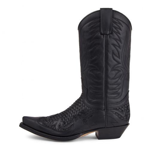 Botas cowboy negras, de Sendra (309 euros).