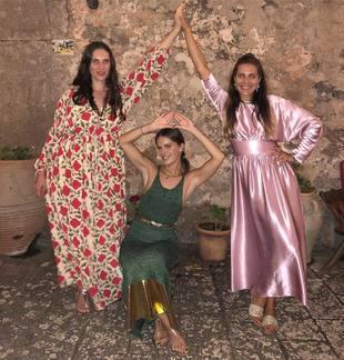 Tatiana Santo Domingo, Eugenie Niarchos y Margherita Missoni, en...