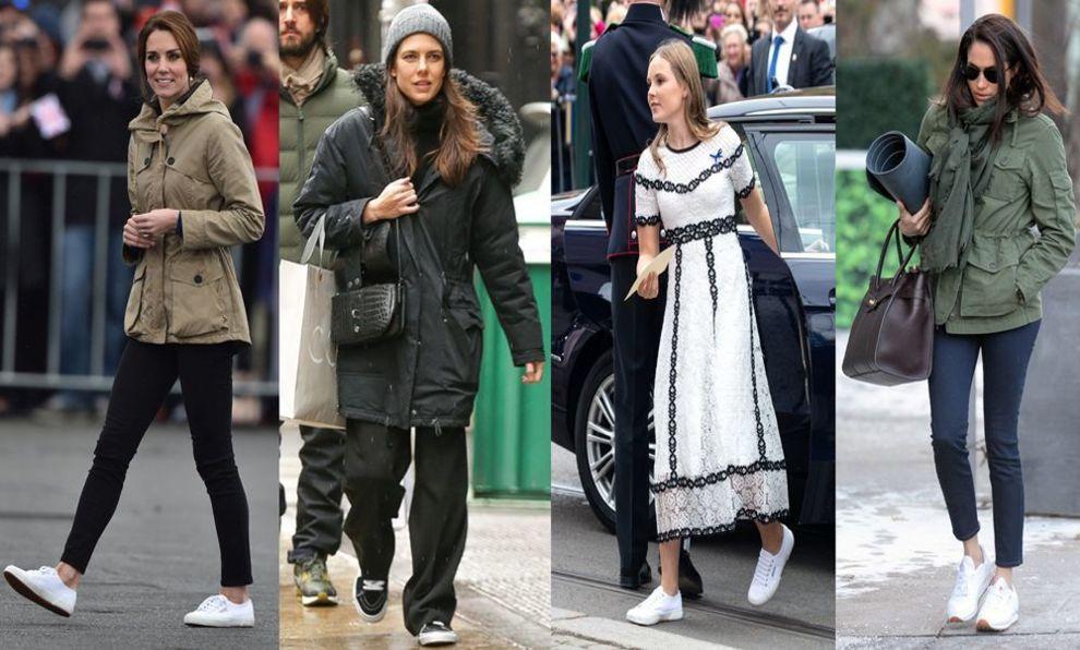 Las zapatillas de deporte (preferiblemente blancas) son el nuevo must...