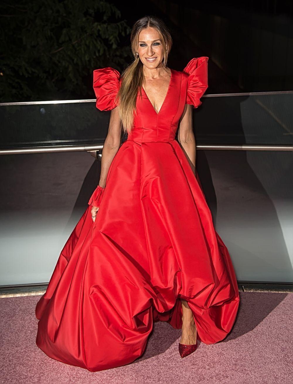 La actriz en la Ballet Fashion Gala.