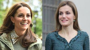 Kate Middleton y la Reina Letizia con los mismos pendientes de Monica...