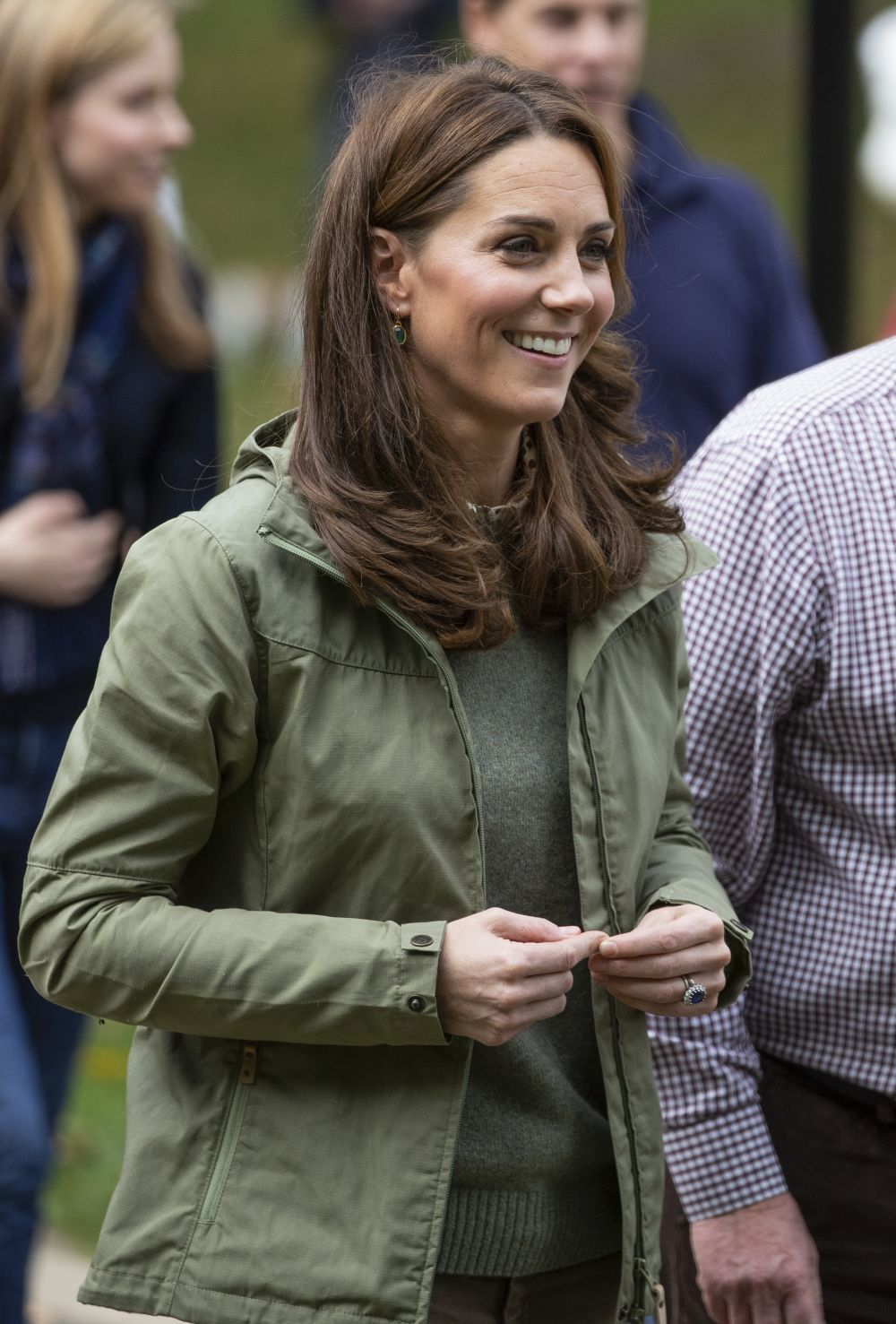 Kate Middleton en su reaparición tras la baja maternal.