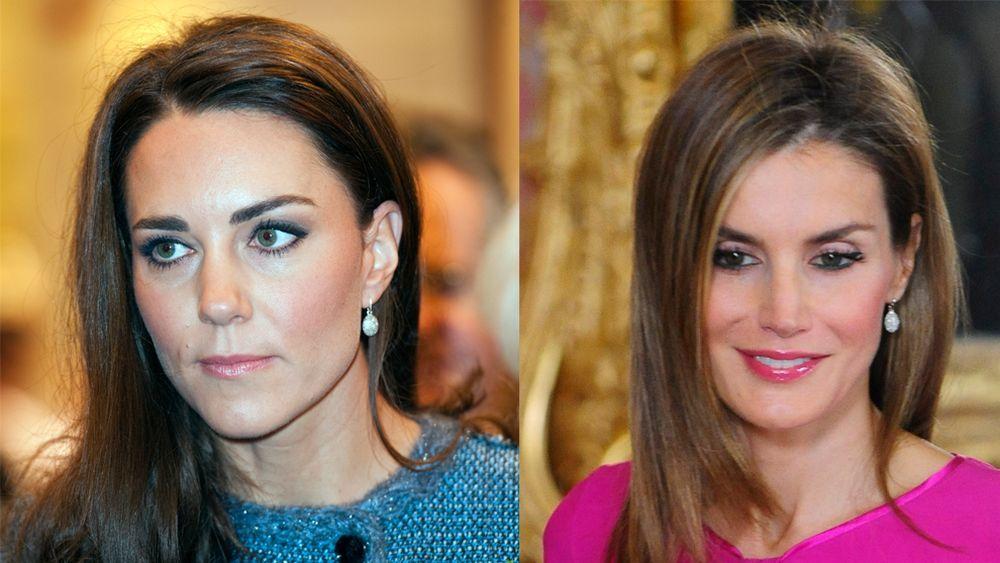 La Duquesa de Cambridge y la Reina Letizia con los mismos pendientes,...