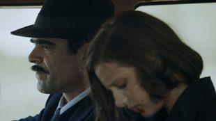 """Michelle Jenner y Luis Tosar en """"La sombra del la ley"""""""