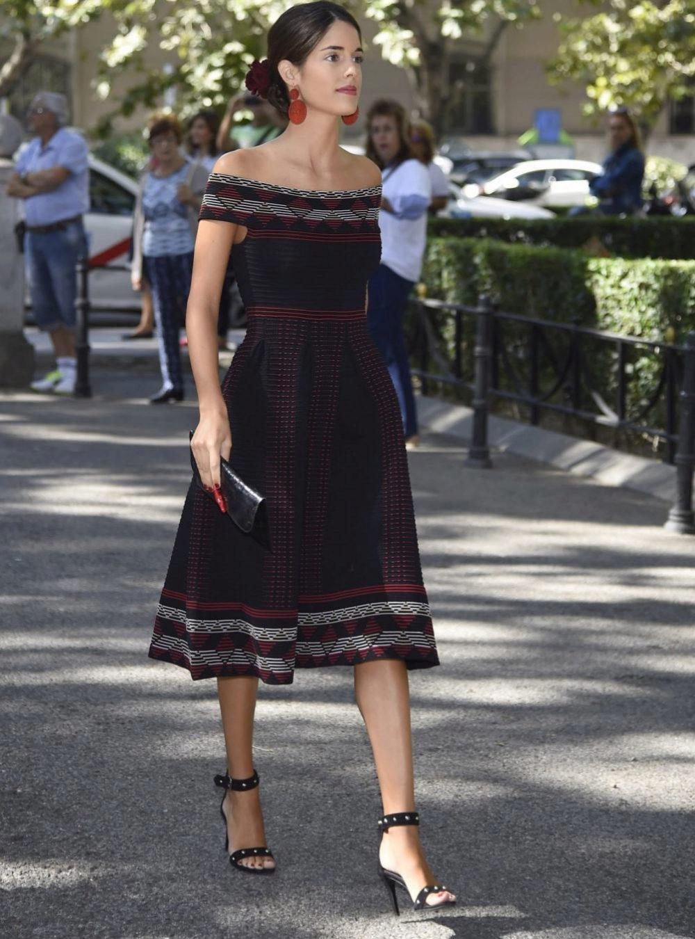 Sofía Palazuelo acudiendo a un evento en el Palacio de Liria.