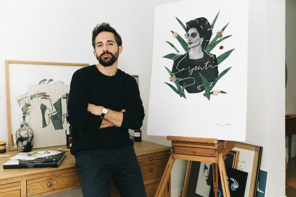 Jimmy Millán en su estudio del madrileño barrio de Las Salesas con...