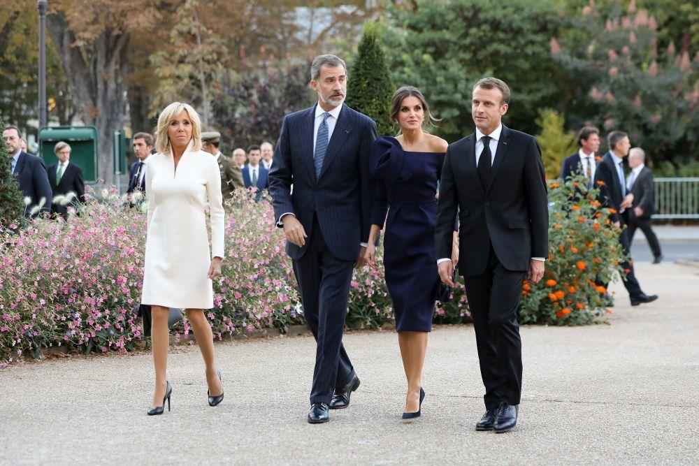 Emmanuel y Brigitte Macron con los reyes de España.
