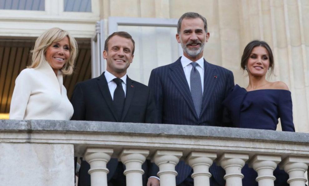 Los reyes en su visita a Francia.