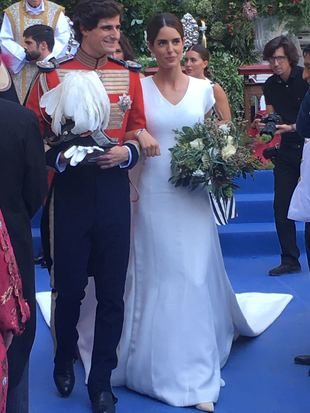 Sofía Palazuelo y ferando Fizt-James, ya convertidos en marido y...