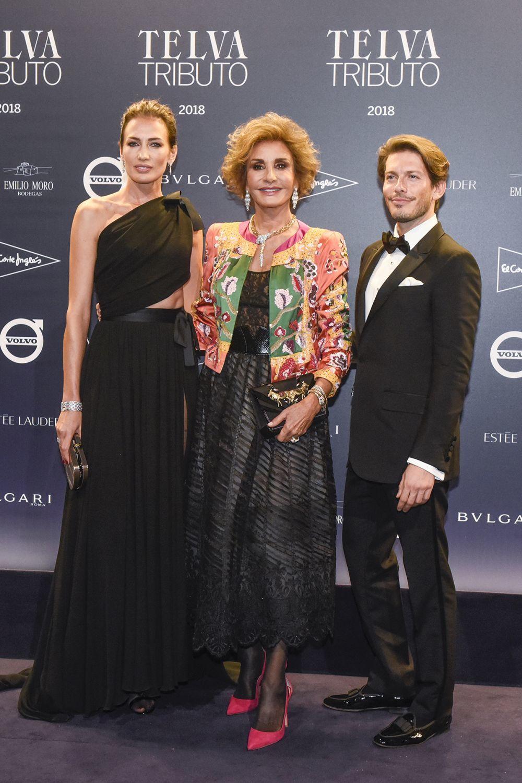 Naty Abascal junto a Nieves Álvarez y Edgardo Osorio.