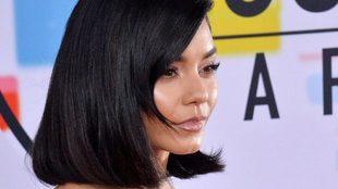 Vanessa Hudgens en el photocall de los American Music Awards