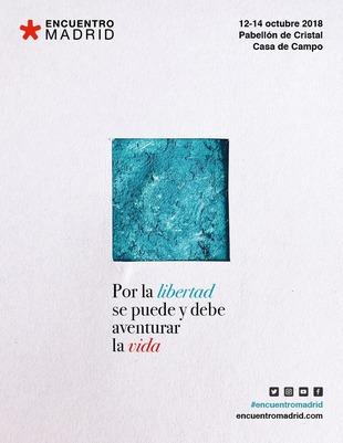 """Cartel de la 15ª edición de EncuentroMadrid, que tiene por lema """"Por..."""
