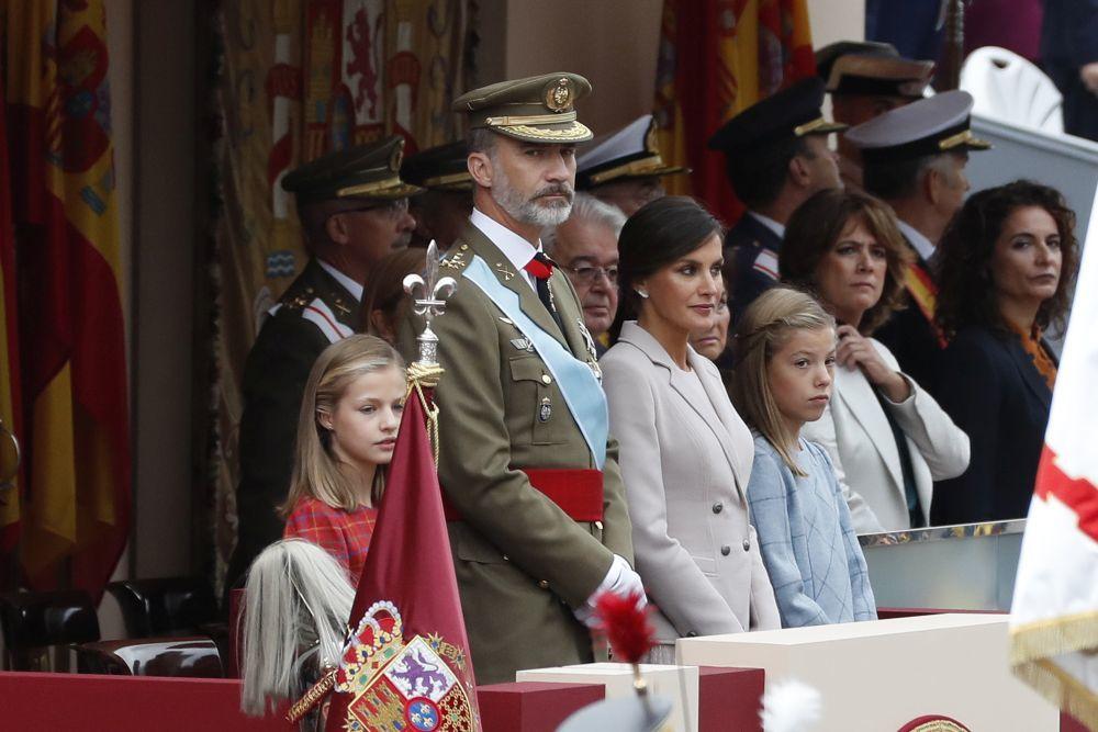 La familia Real preside los actos de 12 de Octubre.