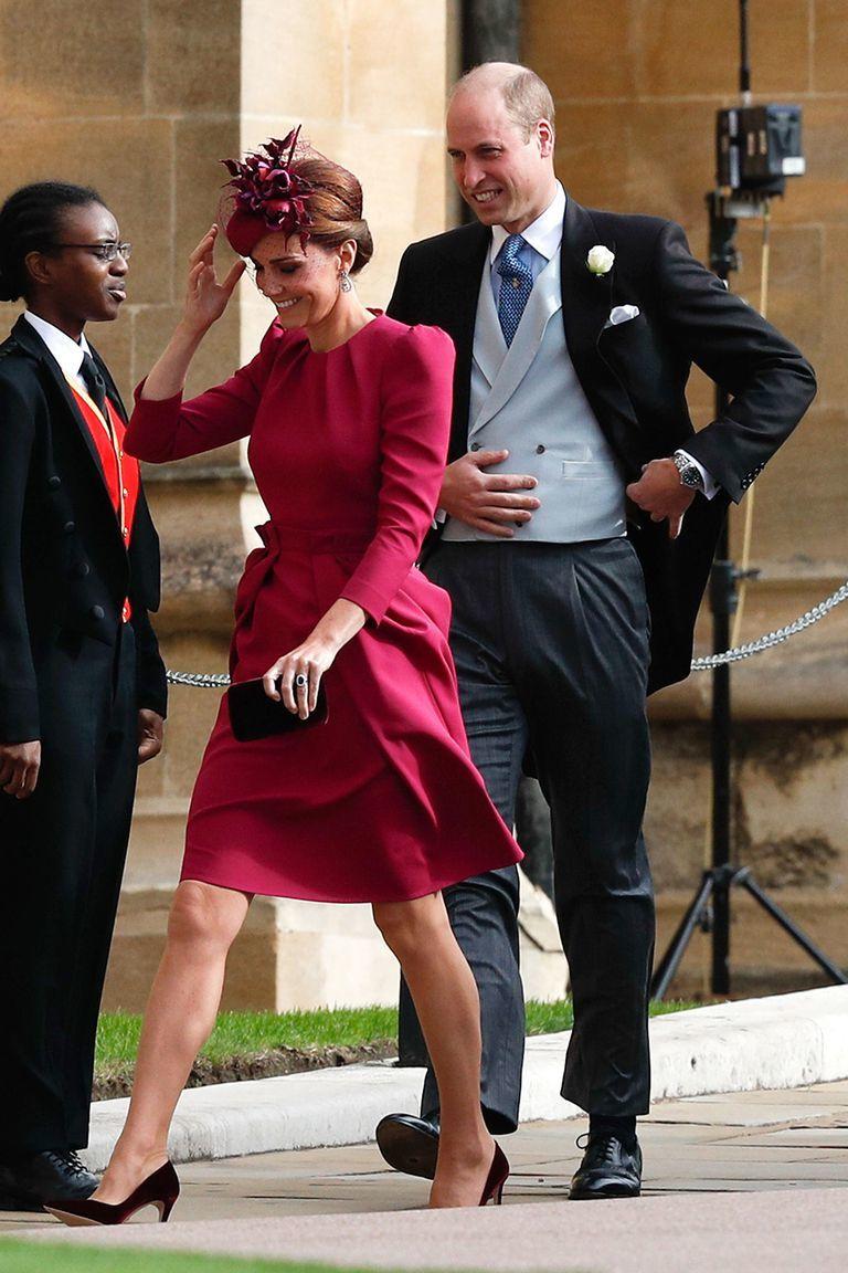 Kate Middleton llegando al enlace.