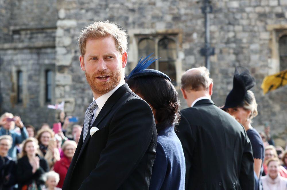 El príncipe Harry en la boda de su prima Eugenia.