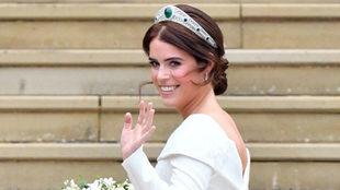 La princesa Eugenia de York, muy guapa el día de su boda.