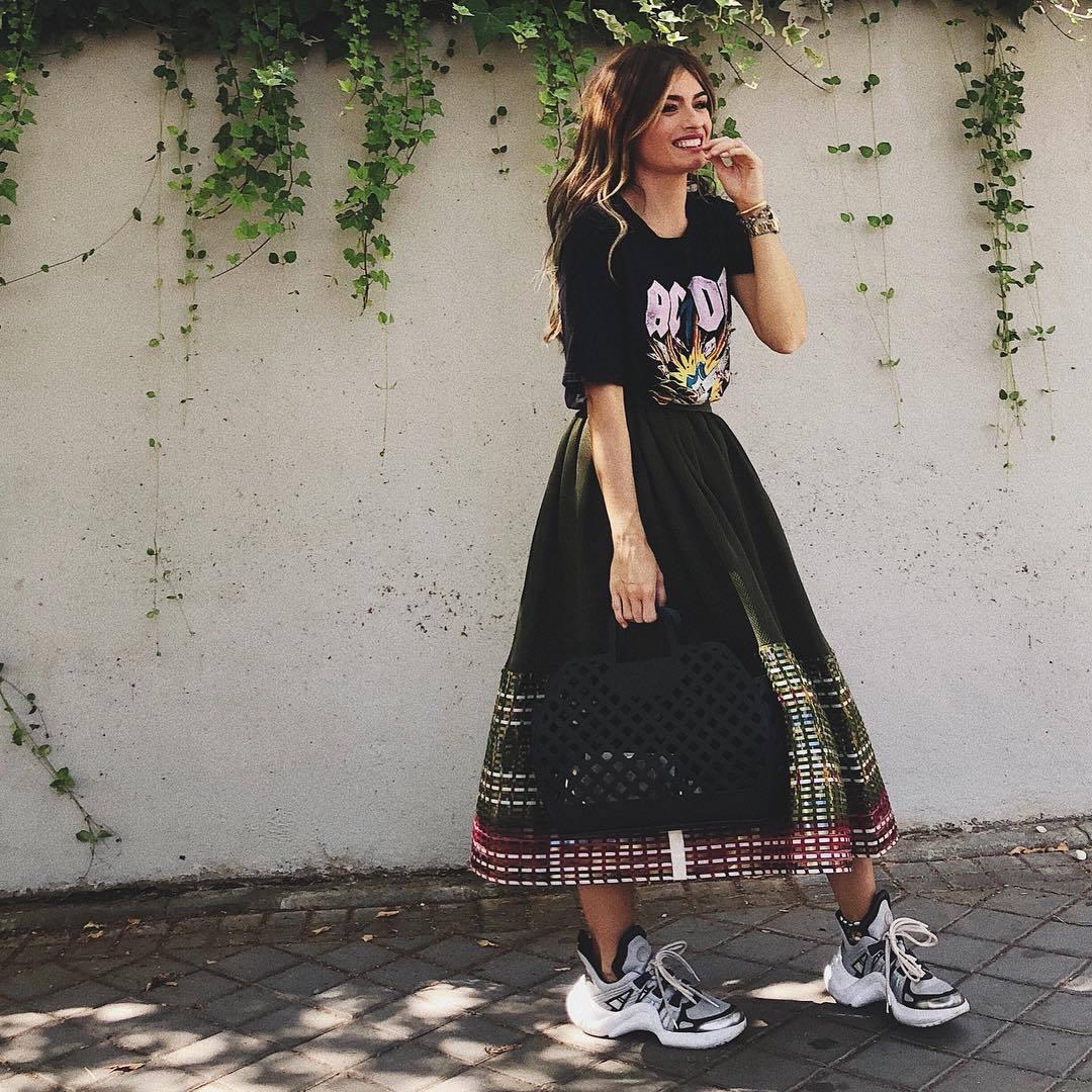 La blogguera Madame de Rosa con las Archlight de Louise Vutton