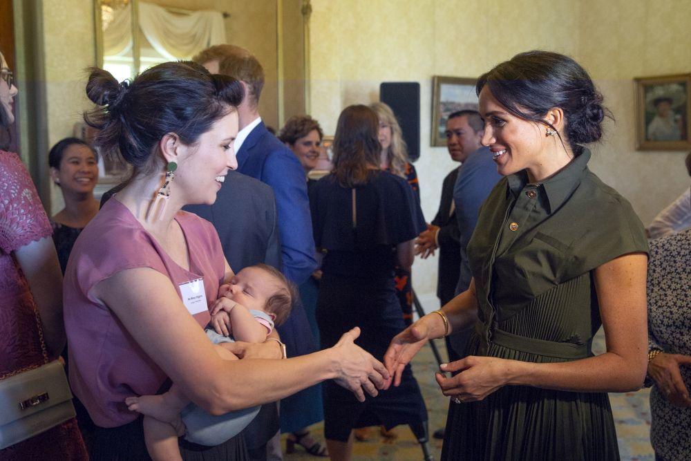 La Duquesa de Sussex durante la recepción en la Admiralty House.