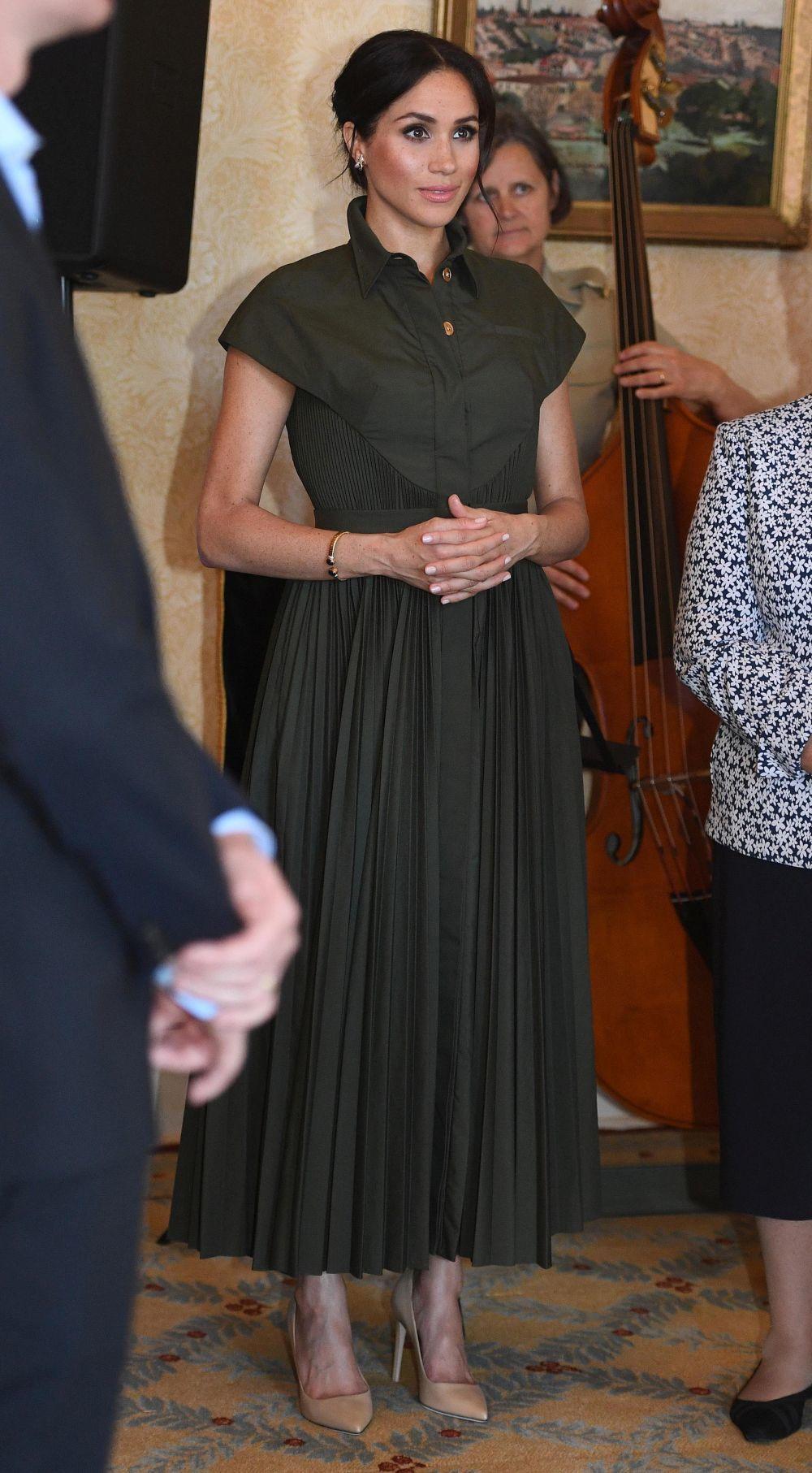 El segundo look premamá de Meghan Markle:un vestido de  Brandon...