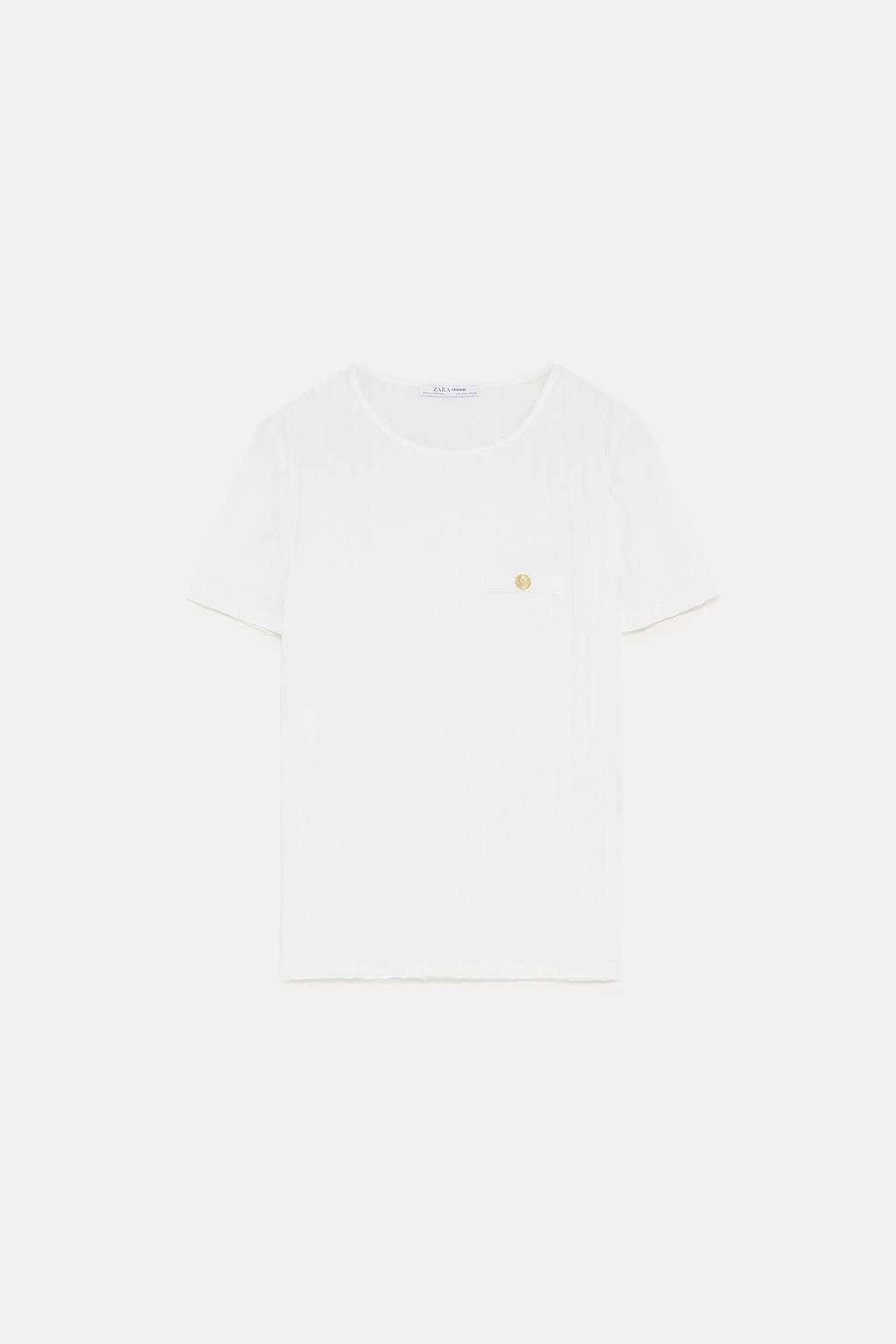 Camiseta canale blanco roto (9,95 euros).