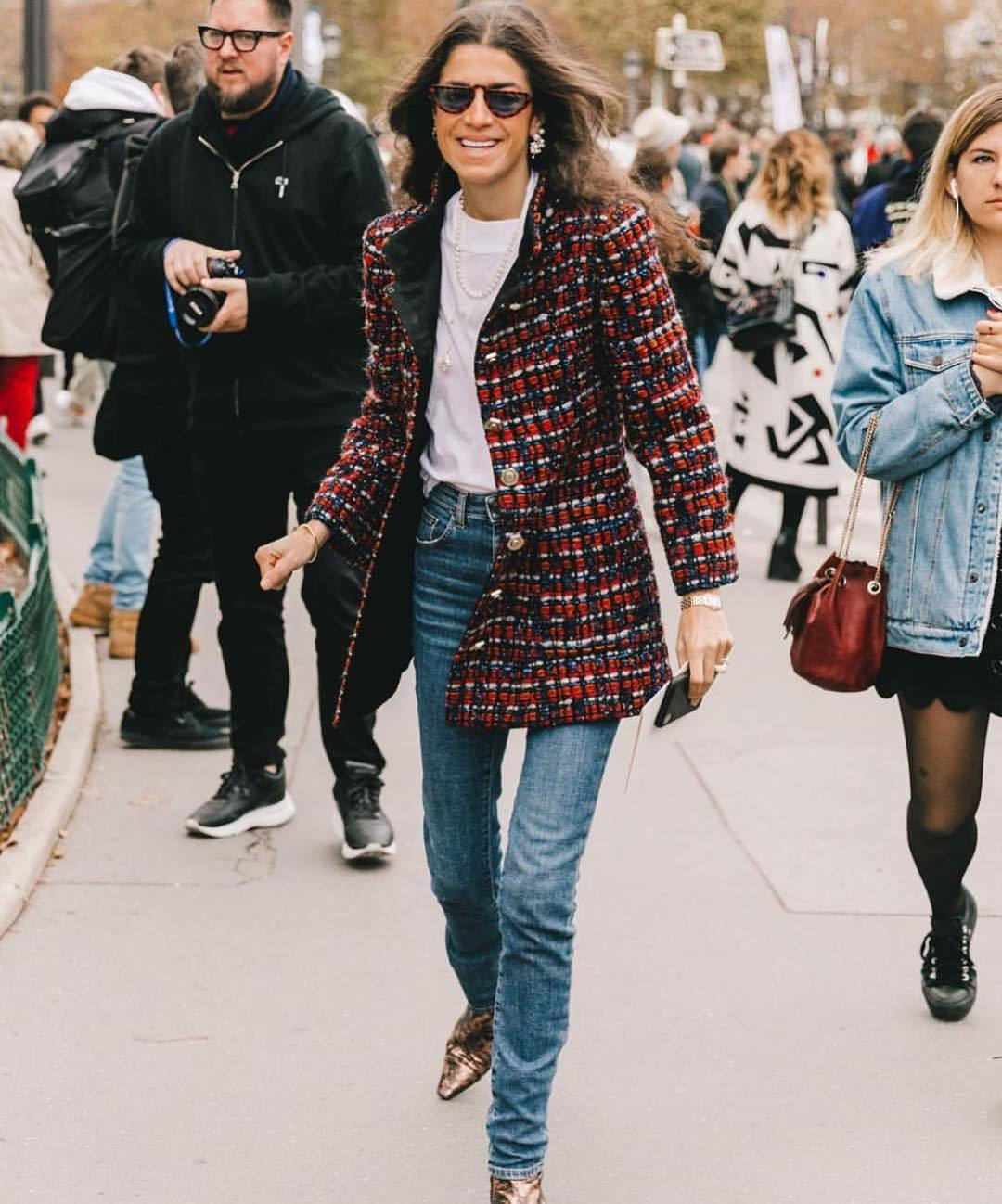 Leandra Medine en Paris Fashion Week.