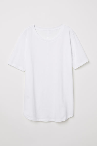 Camiseta blanca básica, de H&M (9,99 euros).