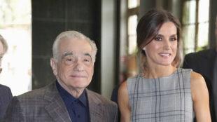 La reina Letizia y Martin Scorsese.