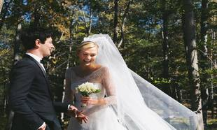 Karlie Kloss se ha casado vestida de Dior con Joshua Kushner