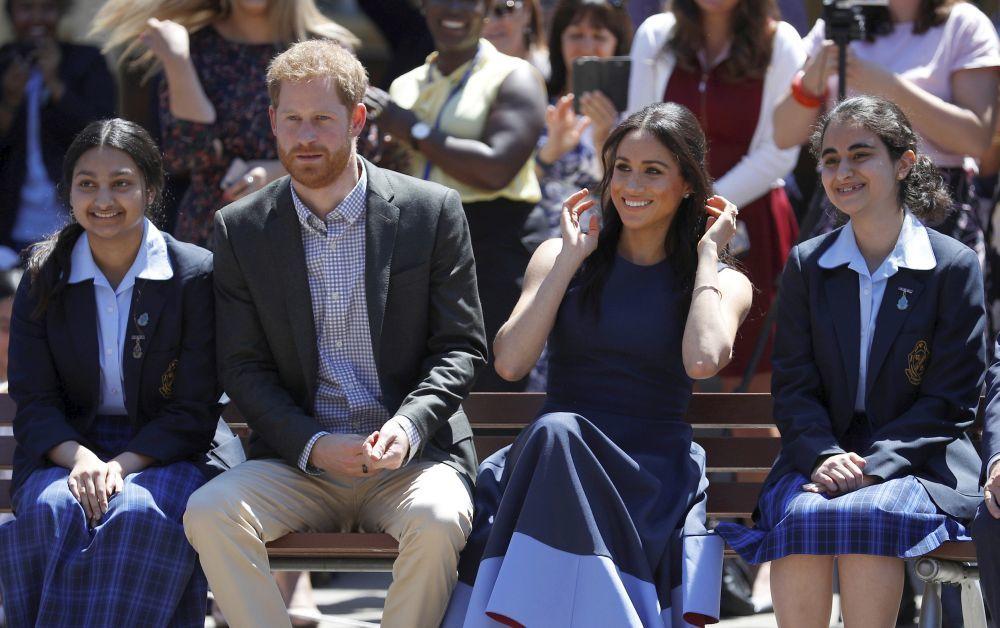 Meghan Markle y el príncipe Harry en Australia.