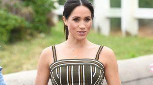 Meghan Markle con vestido largo.