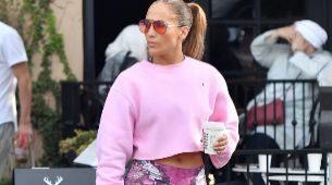 Jennifer Lopez tras una de sus sesiones de entrenamiento en West...