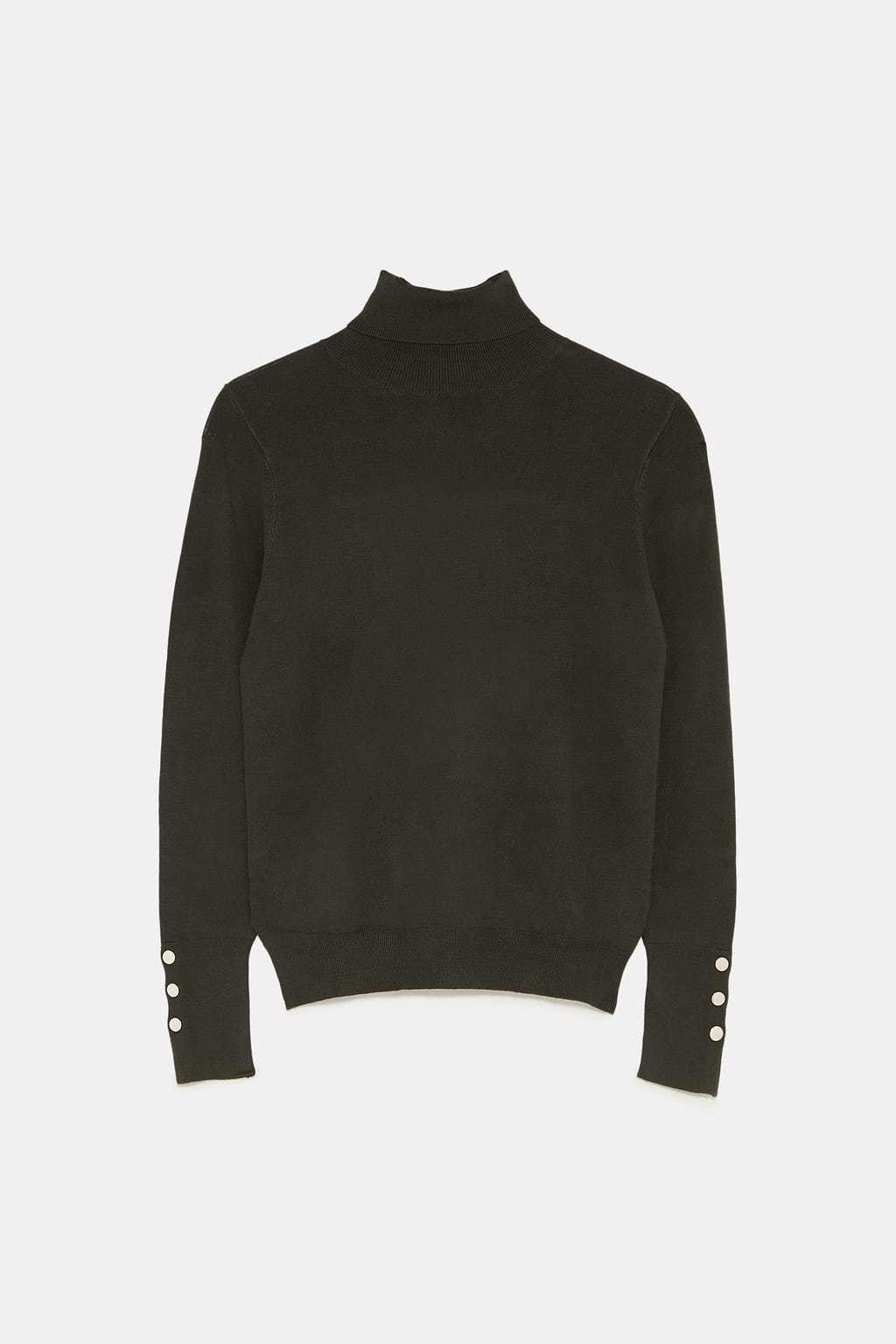 Jersey de cuello alto, de Zara (19,95 euros).