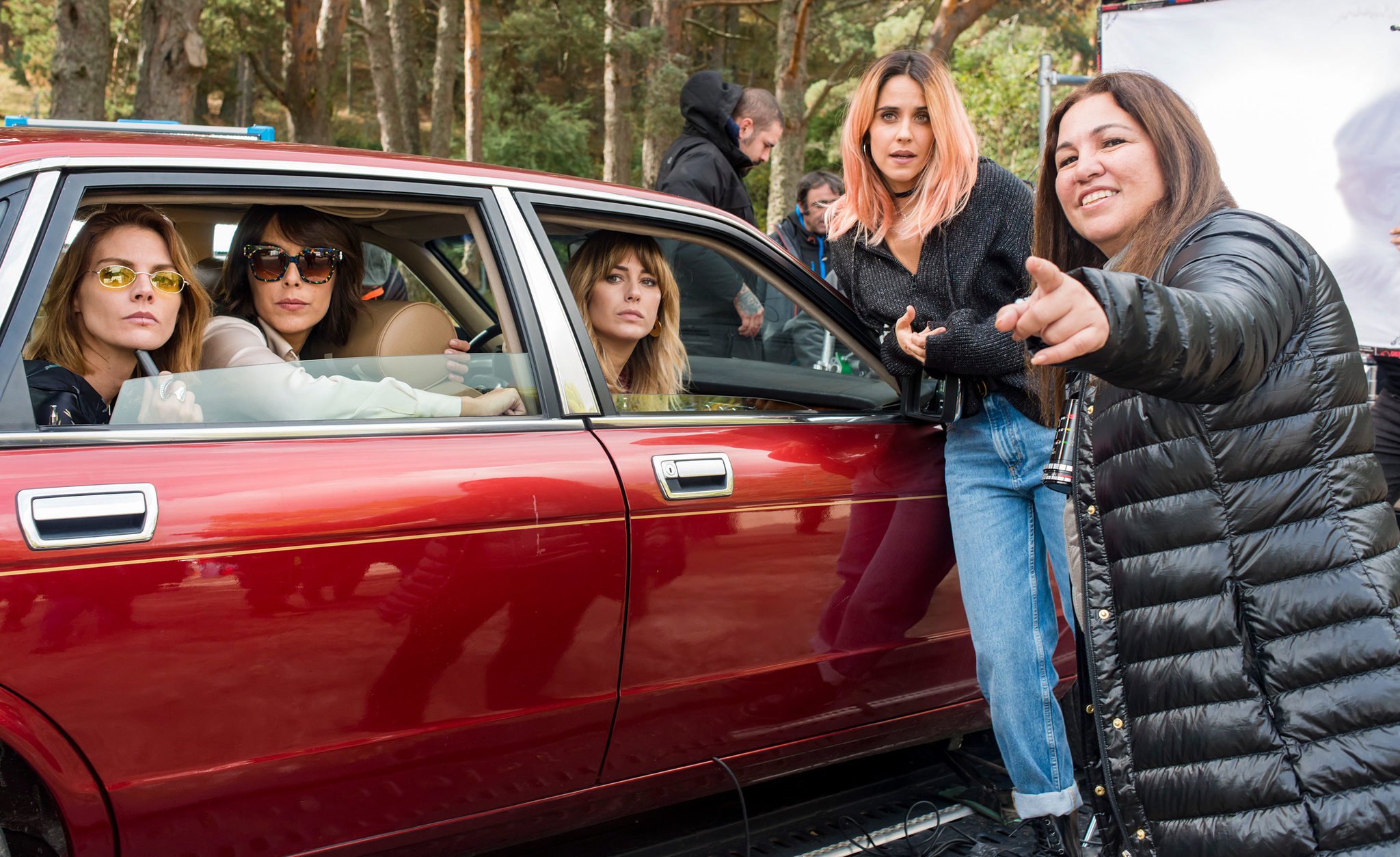 Las actrices junto a Gabriela Tagliavini, directora de A pesar de todo