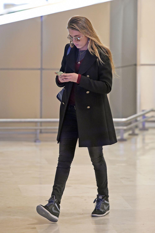 Daniela Svedin Figo en el aeropuerto de Madrd.