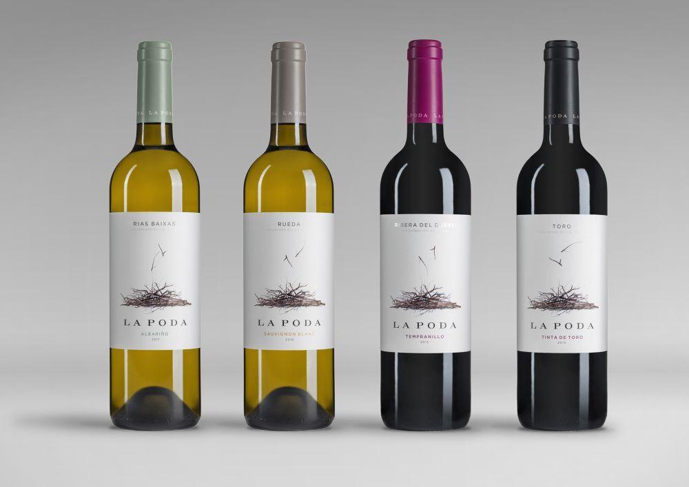 Familia de vinos La Poda, una de las líneas con D.O. Rivera del...