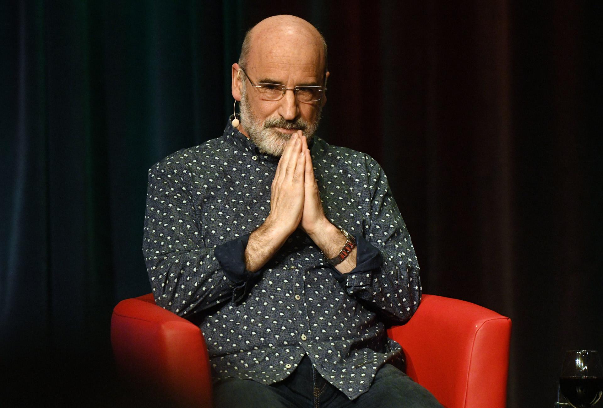 Fernando Aramburu, autor de Patria, en uno festival literario en...
