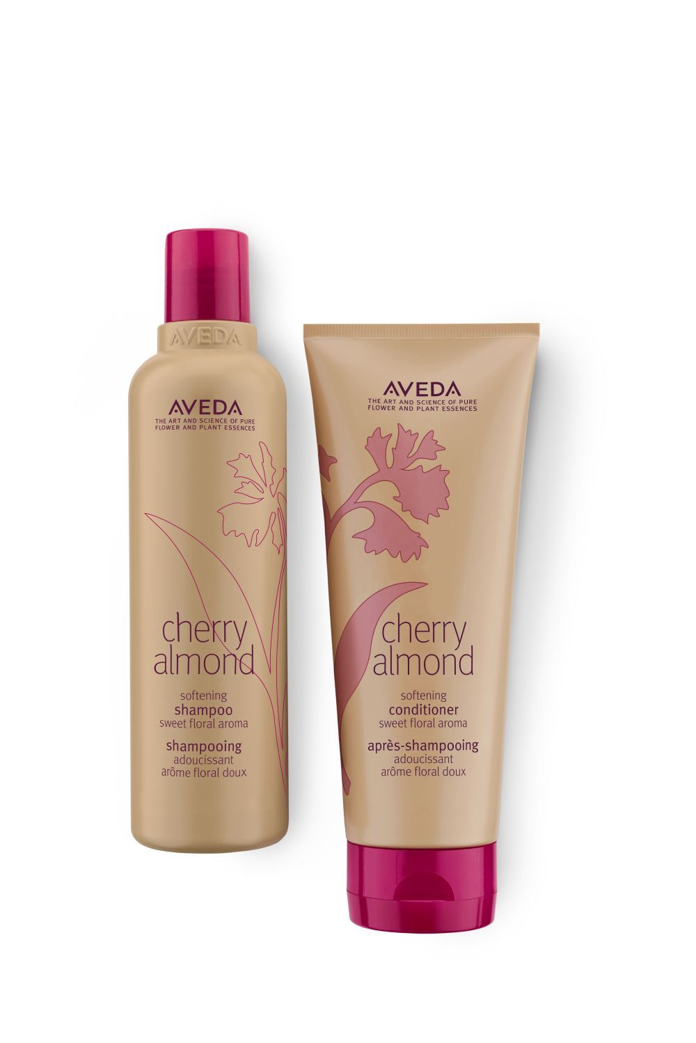 Cherry Almond Shampoo (18 euros) y Cherry Almond Conditioner (20...