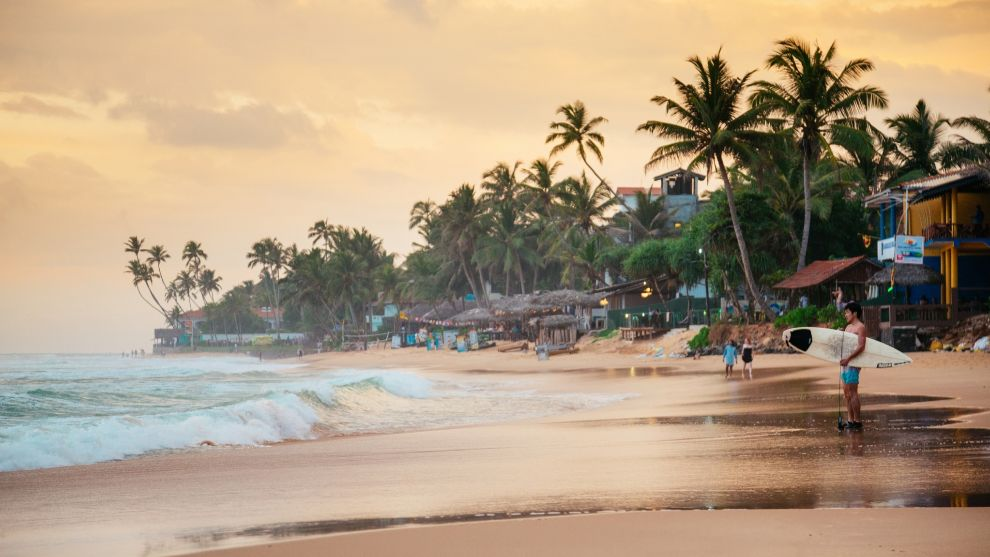 Una de las playas de Sri Lanka