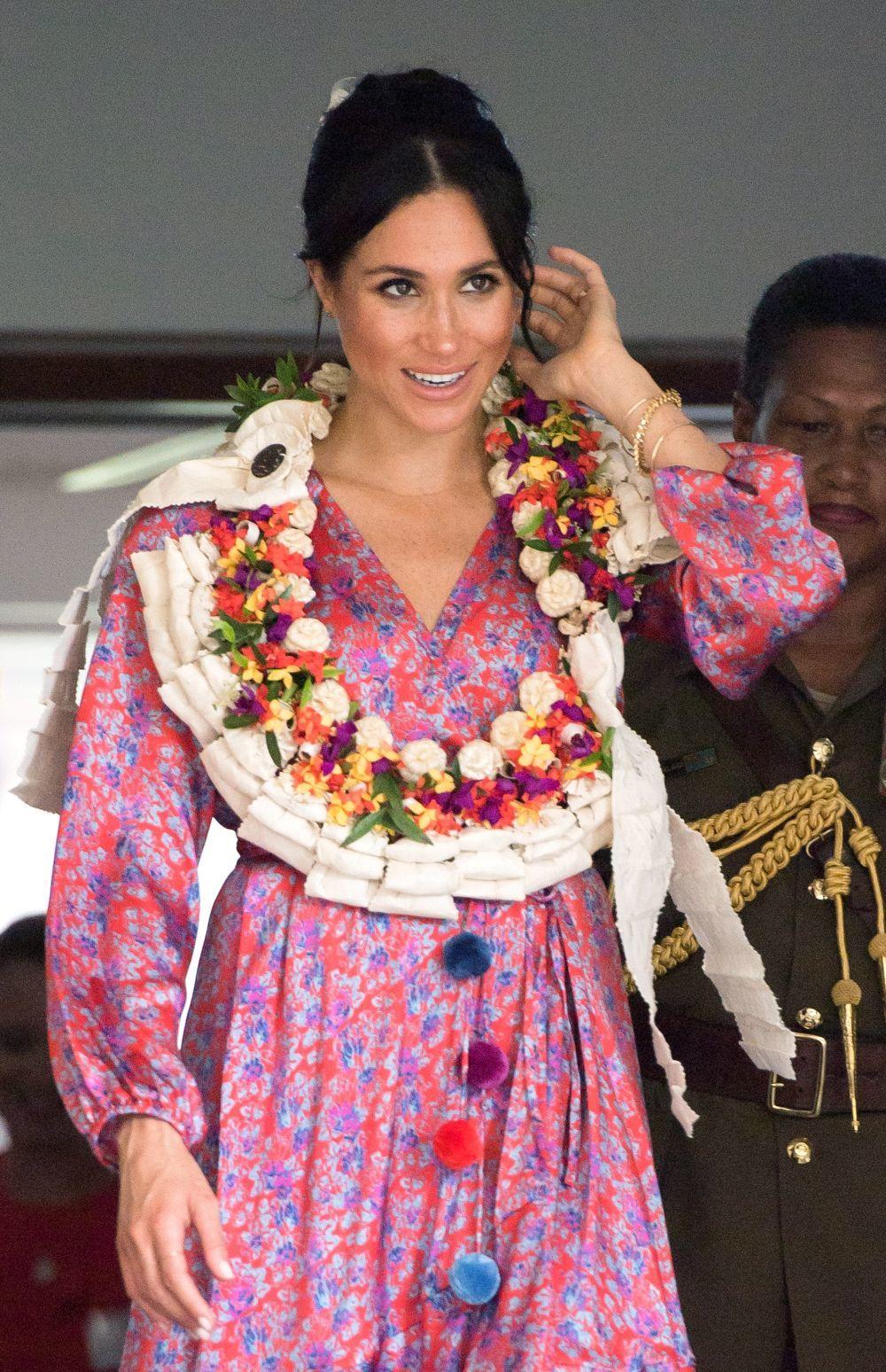 La Duquesa de Sussex en su visita a Fiji.