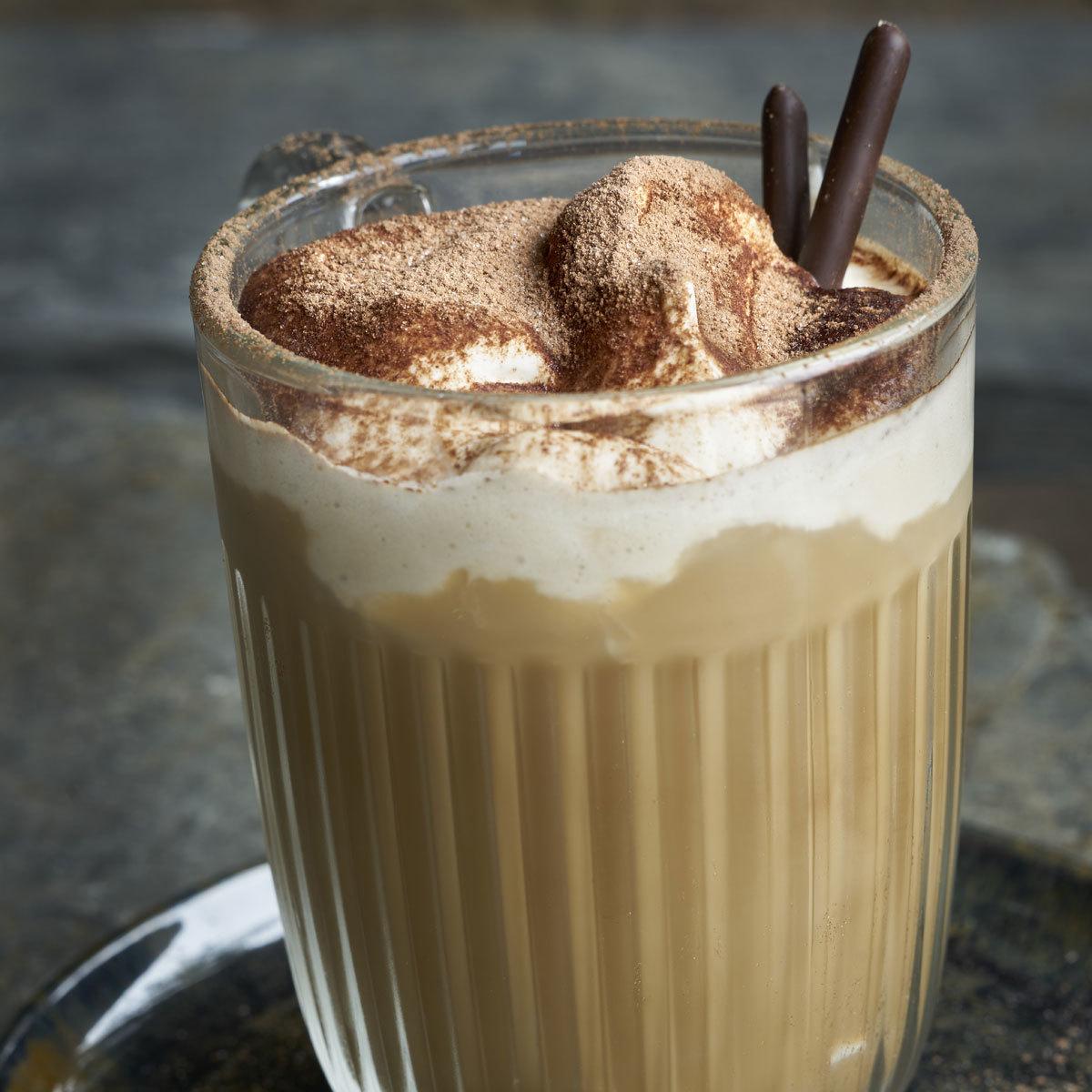 Café especiado de calabaza.
